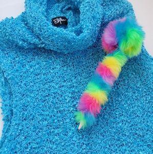 🛸 90's Fuzzy Bright Blue Tank 🛸